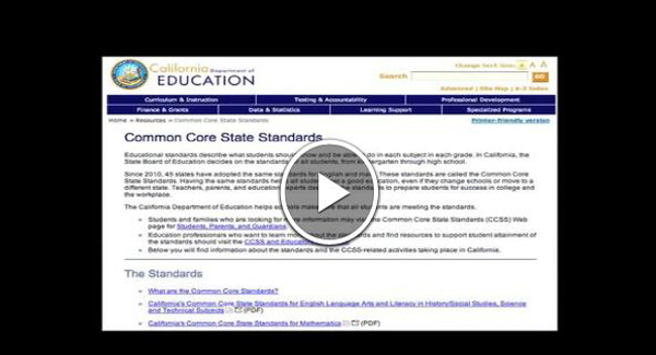 Over View of Common Core for Parents (English Version)